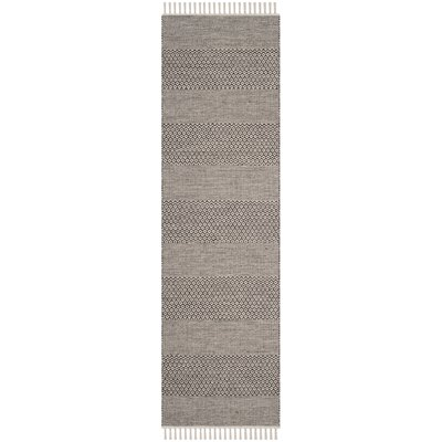 Oxbow Hand-Woven Ivory/Anthracite Area Rug Rug Size: Runner 23 x 12