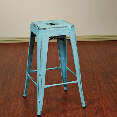 Isabel 26 Bar Stool Finish: Antique Sky Blue