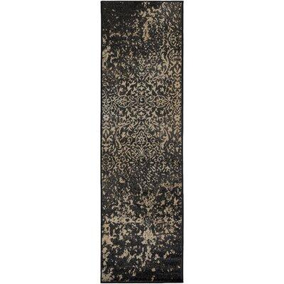 Kulpmont Blue/Black Area Rug Rug Size: 22 x 76