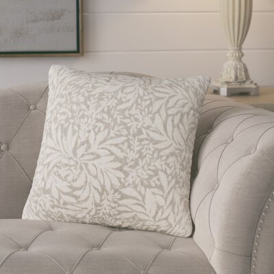 Whitney Throw Pillow Color: Pewter