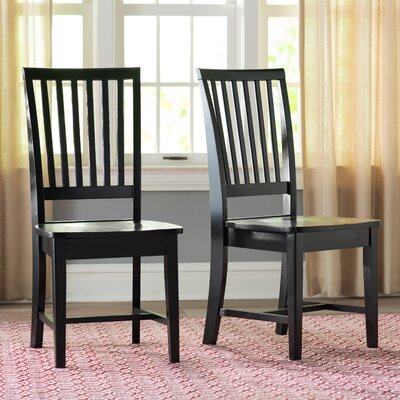 Kirsten Solid Wood Dining Chair Finish: Black