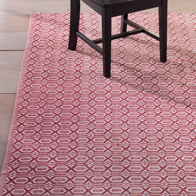 Oxbow Hand-Woven Red Area Rug Rug Size: 3 x 5