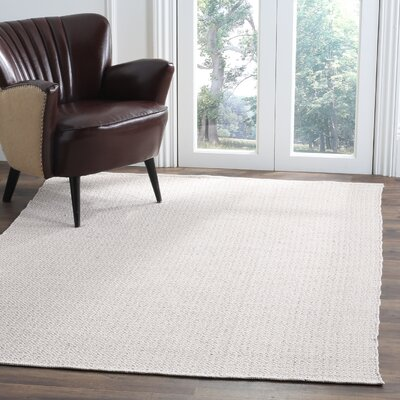 Oxbow Hand-Woven Ivory/Beige Area Rug Rug Size: 5 x 7