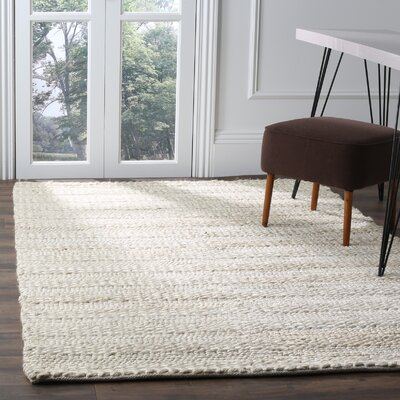 Eco-Smart Hand-Woven Bleach Area Rug Rug Size: 5 x 8