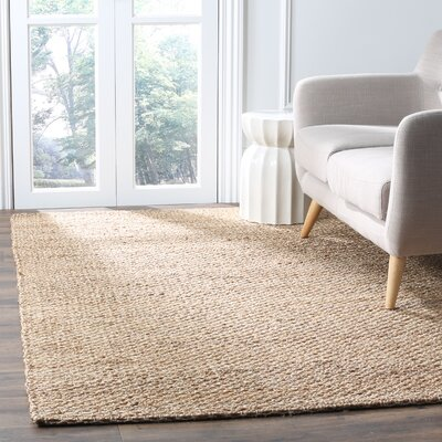 Ramey Hand-Woven Natural Area Rug Rug Size: 5 x 8