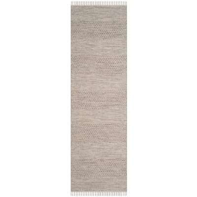 Oxbow Hand-Woven Ivory/Steel Grey Area Rug Rug Size: Runner 23 x 10