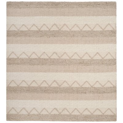 Billie Hand-Tufted Beige Area Rug Rug Size: Square 6
