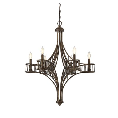 Mindaugas 6-Light Candle-Style Chandelier