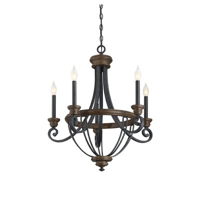 Nanteuil 5-Light Candle-Style Chandelier