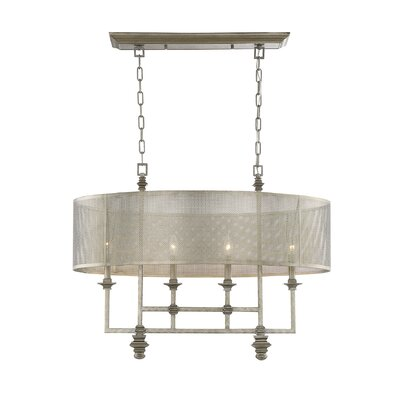 Freeburg 4-Light Drum Chandelier
