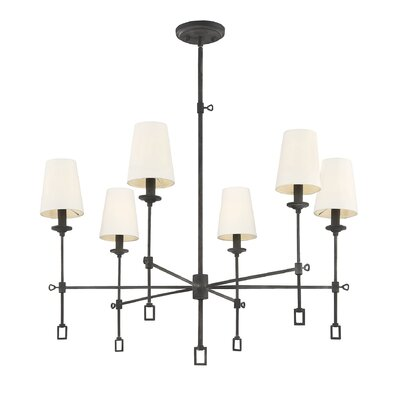 Jaune 6-Light Shaded Chandelier