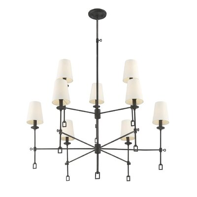 Jaune 9-Light Shaded Chandelier