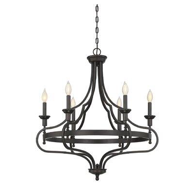 Jaycee 6-Light Candle-Style Chandelier