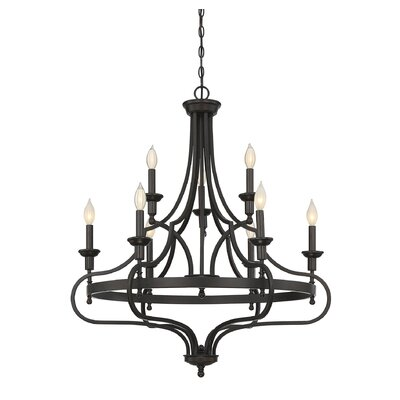 Jaycee 9-Light Candle-Style Chandelier