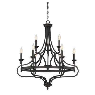 Jaycee 9-Light Candle-Style Chandelier