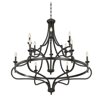 Jaycee 12-Light Candle-Style Chandelier