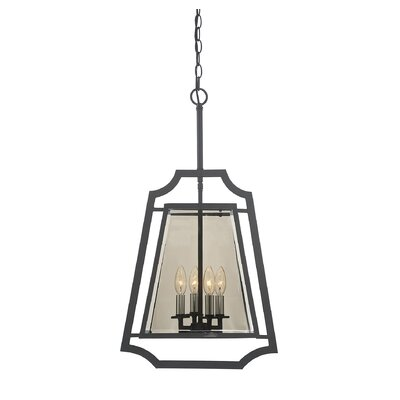 Xoang 4-Light Foyer Pendant Size: 22.5 H x 13 W x 13 D