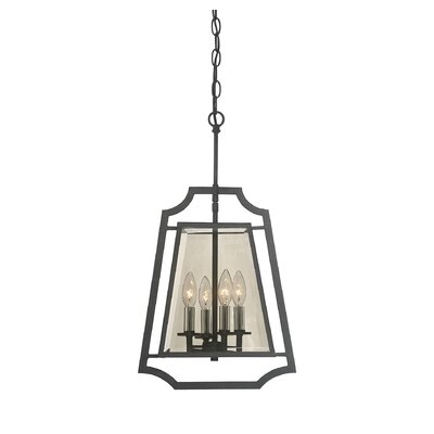 Xoang 4-Light Foyer Pendant Size: 28.5 H x 16 W x 16 D