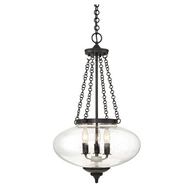 Seva 3-Light Globe Pendant Finish: English Bronze