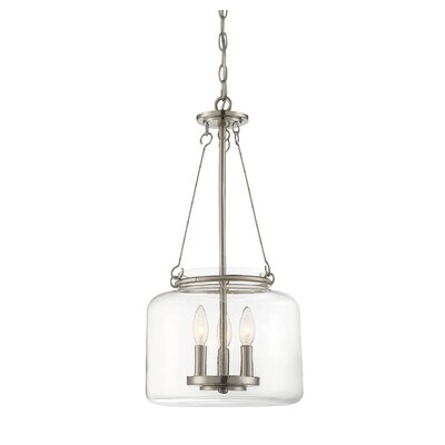 Jean-Baptiste 3-Light Foyer Pendant Finish: Satin Nickel