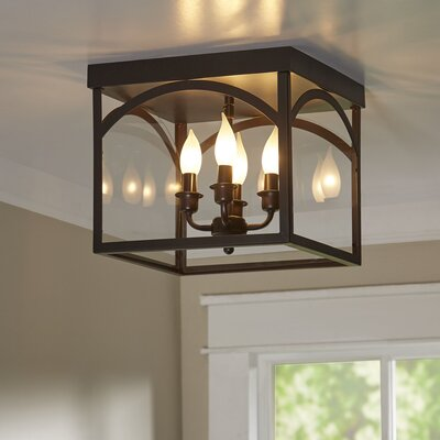Mount Airy 4-Light Flush Mount Finish: English Bronze