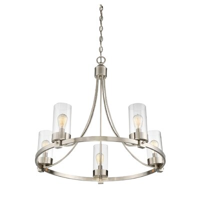 Agave 5-Light Candle-Style Chandelier Finish: Brushed Nickel
