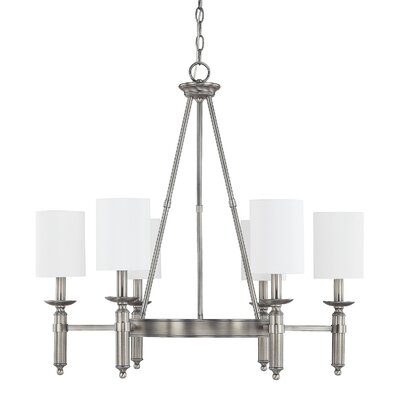 Bonneau 6-Light Shaded Chandelier Finish: Antique Nickel