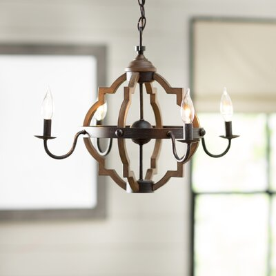 Donna 4-Light Candle-Style Chandelier