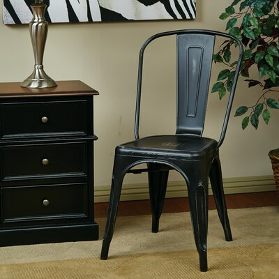 Fineview Side Chair Finish: Antique Black