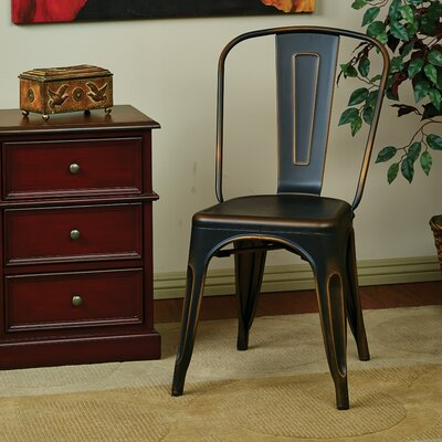 Fineview Side Chair Finish: Antique Copper