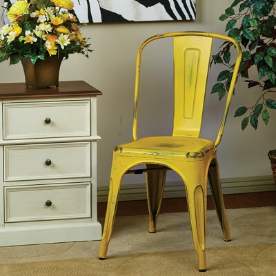 Fineview Side Chair Finish: Antique Yellow