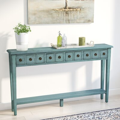 Ambrosia Console Table Color: Teal