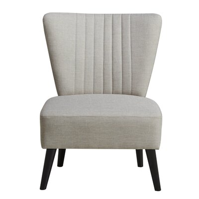 Thayer Channeled Back Slipper Chair Upholstery: Cream