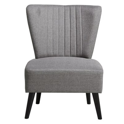 Thayer Channeled Back Slipper Chair Upholstery: Gray