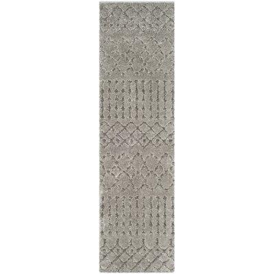 Champlain Gray Area Rug Rug Size: Runner 23 x 8