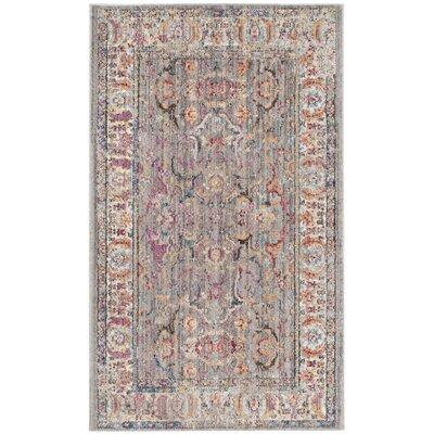 Sahraoui Gray/Light Gray Area Rug Rug Size: 3' x 5'