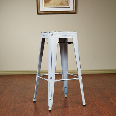 Isabel 30 Bar Stool Finish: Antique White