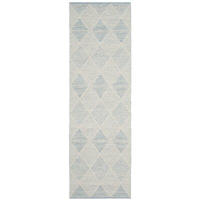 Oxbow Hand-Woven Light Blue Area Rug Rug Size: Runner 23 x 7