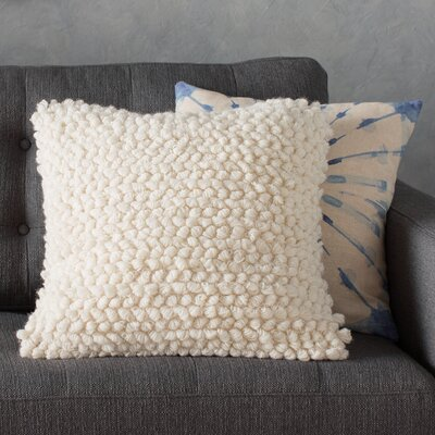 Colmars Throw Pillow Color: White