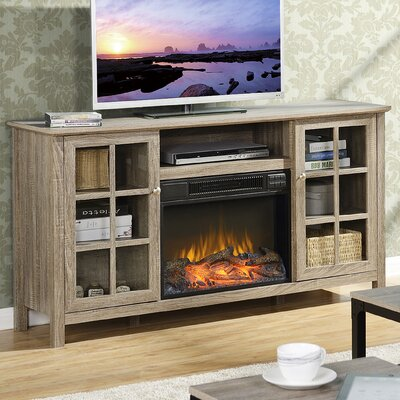 Benoit 60 TV Stand with Fireplace