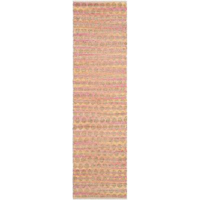 Montfort Orange / Natural Area Rug Rug Size: Runner 23 x 8