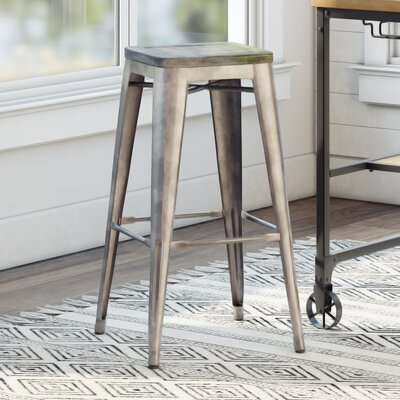 Monica 30 Bar Stool Base Finish: Gray