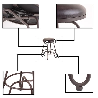 Eagleswood 26 Swivel Metal Bar Stool