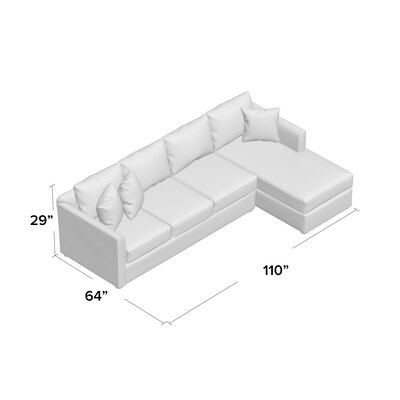 Cailinn Upholstered Sectional Upholstery: Conversation Ivory, Orientation: Left Facing