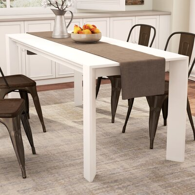 Claire Extendable Dining Table Finish: White