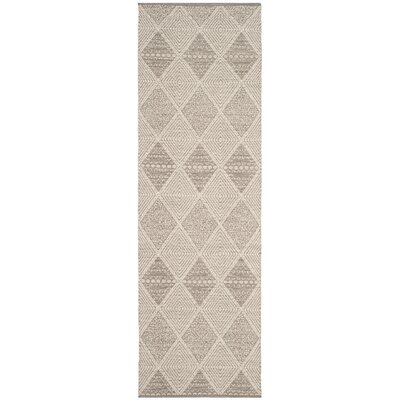 Oxbow Hand-Woven Gray Area Rug Rug Size: Runner 23 x 7