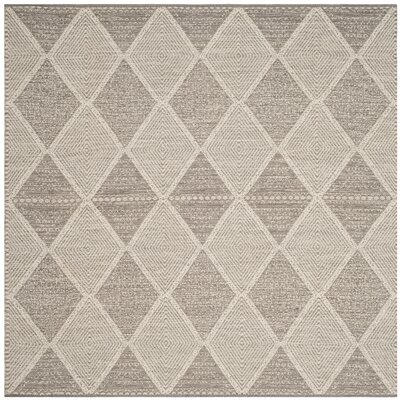 Oxbow Hand-Woven Gray Area Rug Rug Size: Square 6