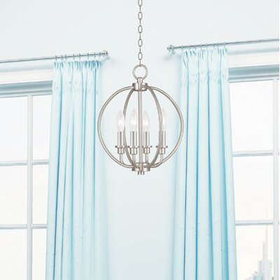 Naomie 4-Light Globe Pendant Finish: Brushed Nickel
