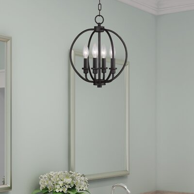 Naomie 4-Light Globe Pendant Finish: Bronze