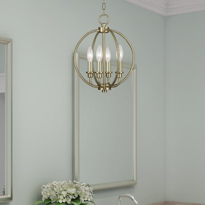 Naomie 4-Light Globe Pendant Finish: Antique Brass
